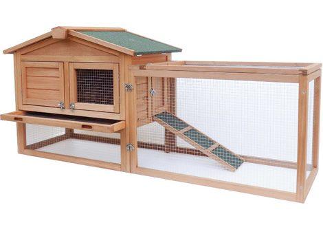 Clapier pour lapin: enclos en bois