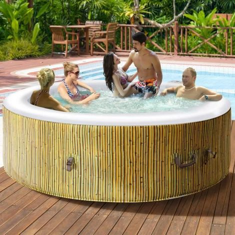 costway jacuzzi spa gonflable rond