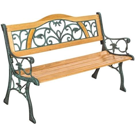 banc vintage de jardin en bois et fonte