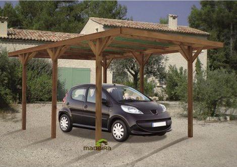 Carport bois traité : le meilleur en bois pour protéger sa voiture